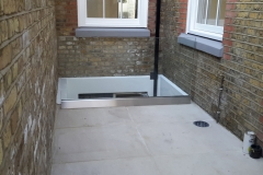 Glass Balustrade Installation on a roof.