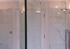 Curved Shower Screen Glass
