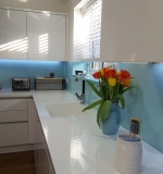 Pale Blue Glass Splashback