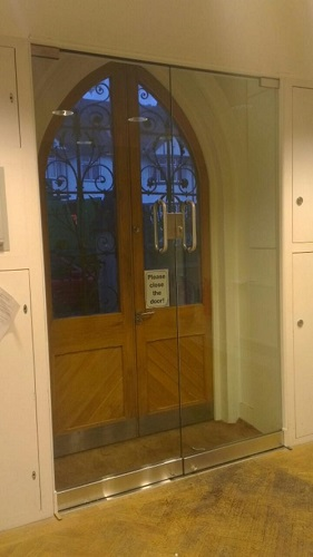glass church doors