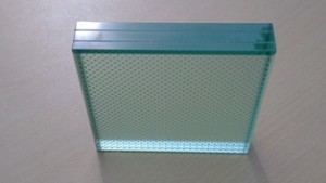 toughend patterned glass